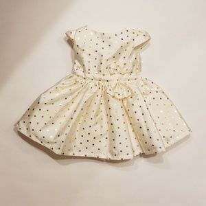 Just One You by Carters gold dress NB